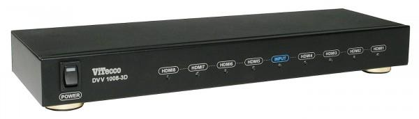 HDMI Verteiler 8-fach, Verteiler 1 auf 8 HDMI - DVV 1008-3D