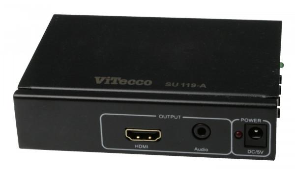 Wandler von FBAS / S-Video und Audio-Stereo in HDMI SU 119-A