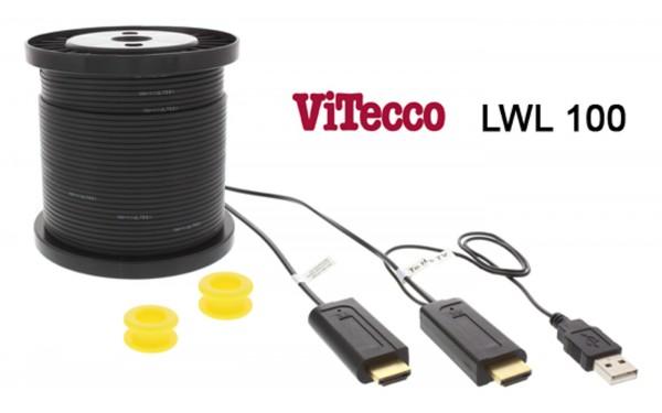 LWL100 - HDMI LWL Extender über Lichtwellenleiter Kabel