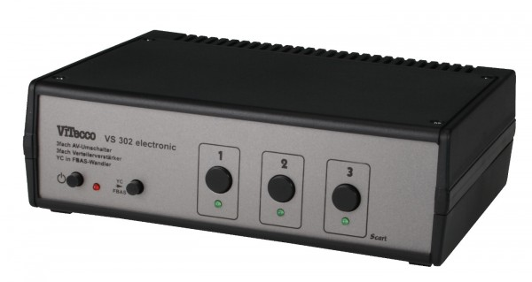 3 fach Scart Umschalter FBAS YC Audio - VS 302 electronic