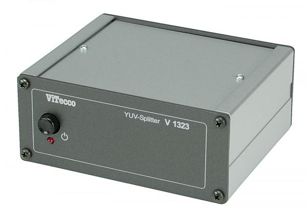 V 1323 AC02YUV-Cinch = 2fach Verteiler für YUV-Video
