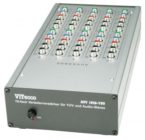 AVV 1026 - YUV-Splitter 1 auf 10 mit Audio Stereo, YUV-Verteiler