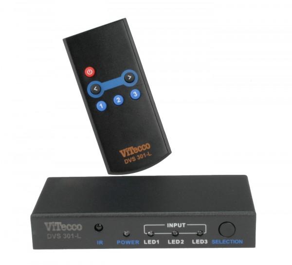 3fach HDMI Umschalter, 3:1 HDMI Switch, DVS301-L