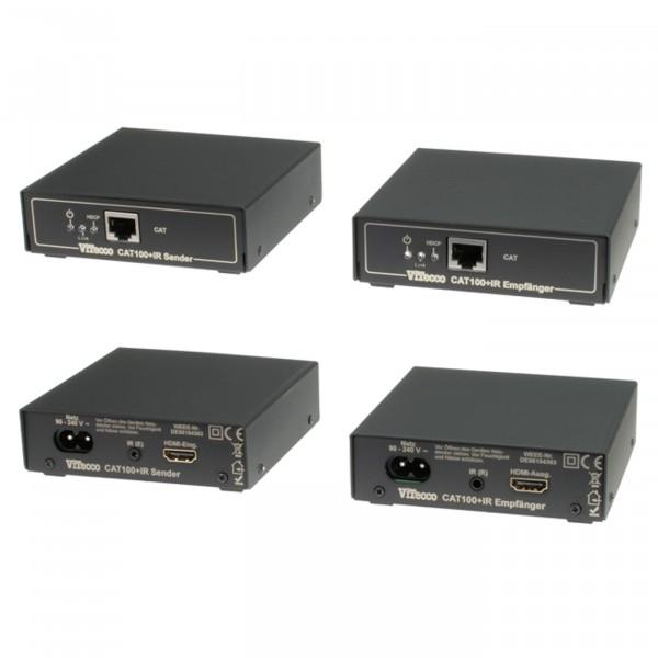CAT 100+IR HDMI Extender mit Infrarot Rückkanal