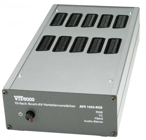 AVV 1025 RGB - Verteiler 1 auf 10 Scart FBAS YC RGB Audio